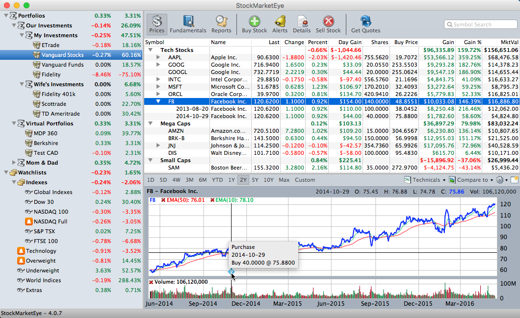 portfolio tracking software for investors stockmarketeye