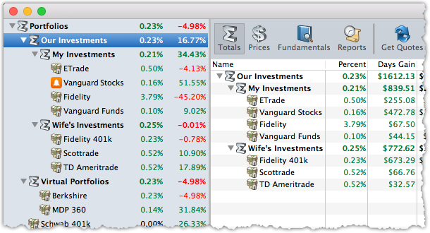 StockMarketEye 4 - Grouped Portfolios
