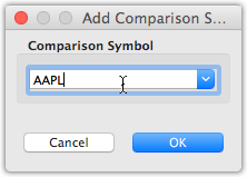 Adding a single comparison symbol