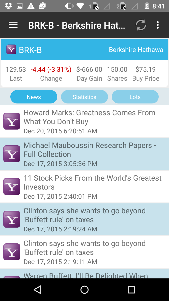 StockMarketEye for Android - News Feed