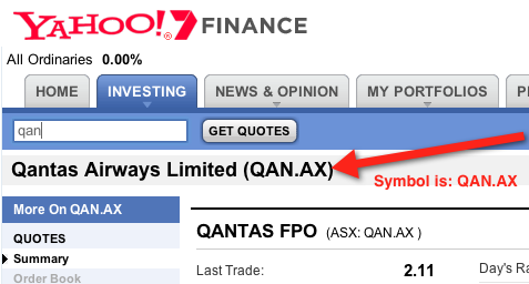 Where To Find The Ticker Symbol On A Yahoo Finance Page