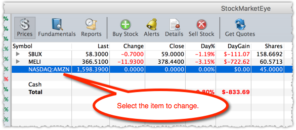 Changing A Holdings Ticker Symbol