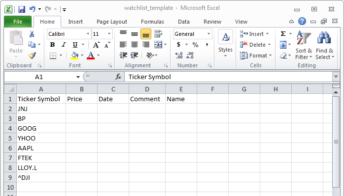 how to get historical stock data in excel